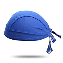 HYSENM Unisex Solid Color Sun UV Protection Cycling Bandana Cap Helmet Liner Skull Cap Sports Headscarf Quick Dry Sweat Proof Breathable