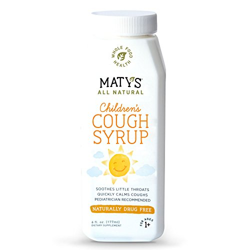 Matys All Natural Childrens Cough Syrup, 6 fl. oz, Soothes Throats, Calms Coughs, with Pure Buckwheat Honey & Natural Immune Boosting, Healthy Ingredients