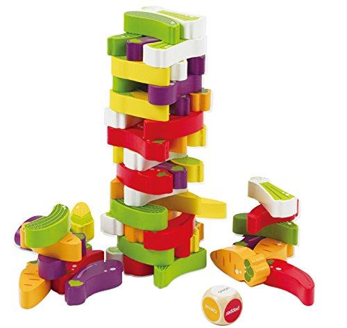 Award Winning Hape Stacking Veggies Kid's Wooden Skill Learning Game by Hape
