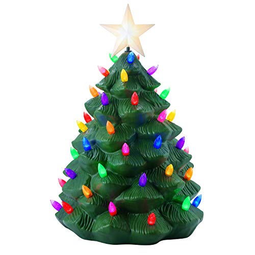 Mr. Christmas 61623 Outdoor Nostalgic Tree Holiday Decorations, One Size, Green (Christmas Blow Mold)