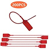 Red Security Seal Pull Tie Tags Plastic Security