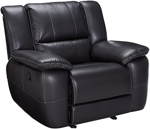 Coaster Lee Motion Glider Recliner-Black - Coaster Furniture Recliner