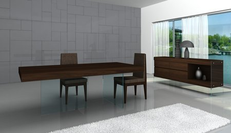 J & M Furniture 17699-T Float Modern Dining – Dark Oak