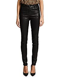 J Brand Women's Maria High Rise Leather Pants