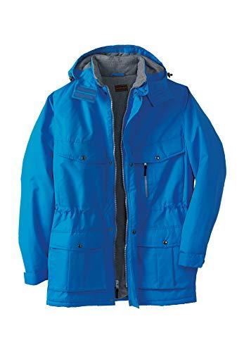 Boulder Creek Men's Big & Tall Expedition Parka Coat, Pacific Blue Big-5Xl