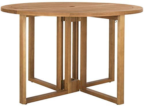 Safavieh PAT7036A Outdoor Collection Wales Teak Round 47.24″ Dining Table