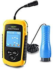 LUCKY Portable Fish Finder for Kayaks Hand held Depth Sounder Fish Detector Depth Finder Fish Finder ice Fishing Boat Fishing Gifts for Men Women