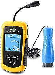 LUCKY Portable Fish Finder for Kayaks Hand held Depth Sounder Fish Detector Depth Finder Fish Finder ice Fishi
