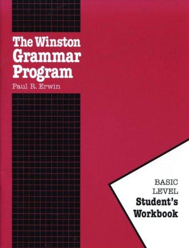 Workbook diagramming worksheets : The Winston Grammar Program: Basic Level Student's Workbook: Paul ...