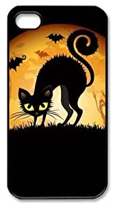 amazing iphone 4S case Halloween Cat Ghosts Mice PC Black for Apple iPhone 4/4S