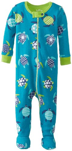 Hatley   Baby Baby Boys' Footed Coverall Sea Turtles, Aqua, 12 18 Months
