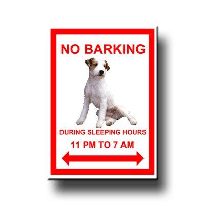 (Jack Russell Terrier No Barking Fridge Magnet)