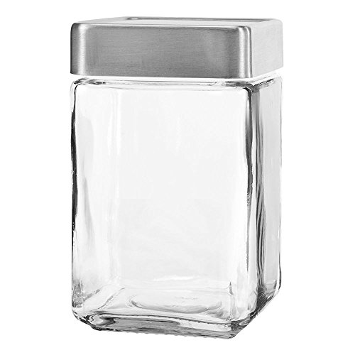 Anchor Hocking 85754 Stackable 1.5 Qt Jar w/ Aluminum Lid