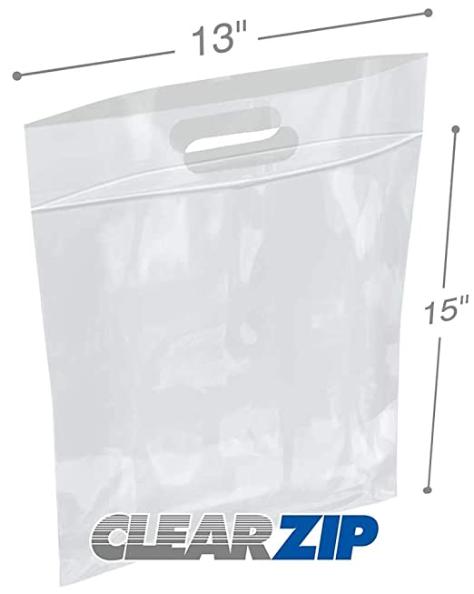 Amazon.com: APQ Pack of 500 Die Cut Zip Lock Bags 13 x 15 ...