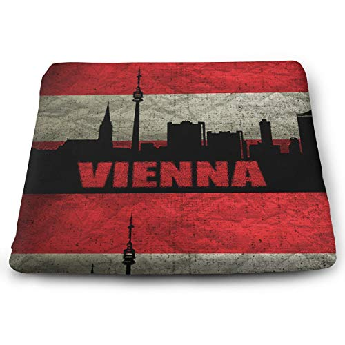 Austria Vienna Architecture Square Seat Cushions Comfortable & Soft Memory Foam Pillows for Office Chair Or Children