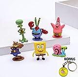FunnyToy Spongebob Action Toys – 6-Piece Set