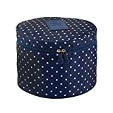 Best FakeFace Toiletry Bags - Fakeface Cute Compact Design Round Toiletry Cosmetic Travel Review