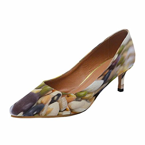 Multi Heel White Mixed Legumes Womens Pump Kitten Low InterestPrint on Toe Dress Pointed Shoes 1 Background 7ft6ztpnwx