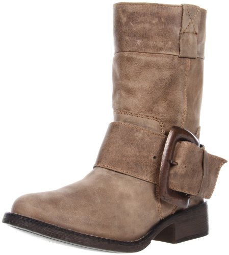 Betsey Johnson Donna Ariss Stivaletto Taupe In Pelle