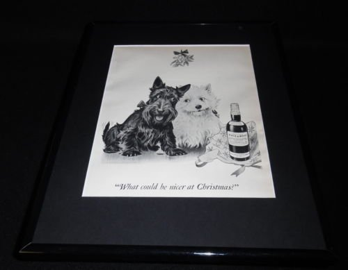 (1951 Black & White Scotch 11x14 Framed ORIGINAL Vintage Advertisement)