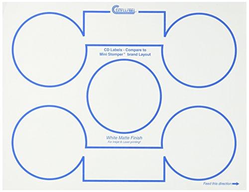 Continental Compulabel White CD/DVD Stomper Mini Layout L...