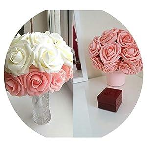 10 Heads 8Cm Pretty Charming Artificial Flowers Pe Foam Rose Flowers Bride Bouquet Home Wedding Decor Scrapbooking DIY Supplies 6