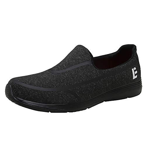 Escort Runners Women's Slip-on Walking Shoes Lightweight Sneakers Comfort Athletic Shoe for Outdoors EALK002-W1-9.5 Black