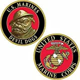 CHALLENGE COIN US MARINE CORPS DEVIL DOGS (1-5/8'')