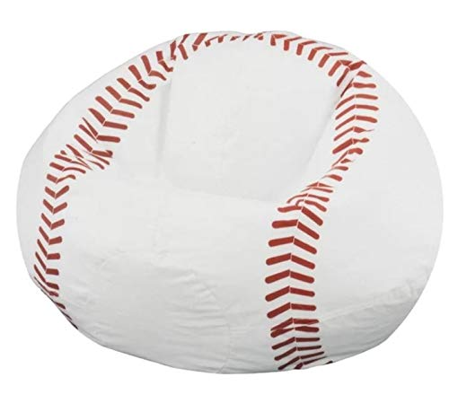 Design Eben- Fluffy Bean Bag Chair-Bing Bag Chair-White 29.5 Inch Wide-Perfect for Relaxation and Makes A Statement in Any Space
