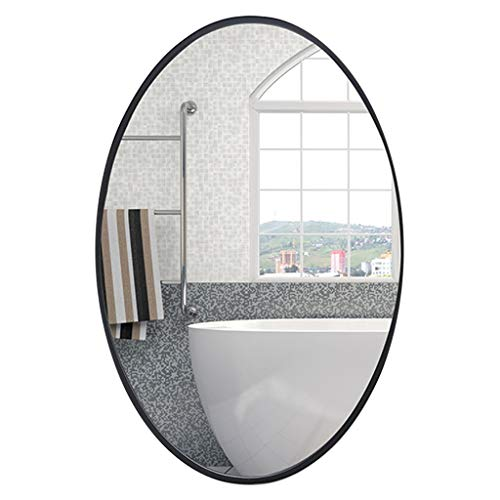 Oval Framed Mirrors of Glass Black Wall Décor HD Vanity Mirror for -