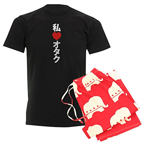 CafePress I Heart (Love) Otaku Unisex Novelty Cotton Pajama Set, Comfortable PJ Sleepwear