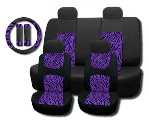 purple and zebra seat covers - 7
