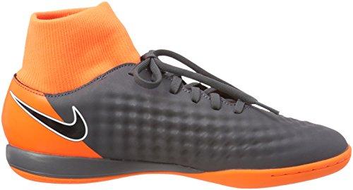Nike Tee-N - Camiseta con manga corta para hombre Gris (Dark Grey/black-total Orange-white 080)
