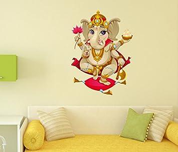 Buy Decals Design Shree Ganesh PVC Vinyl Wall Decal 70 cm x 50 cm