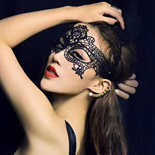 MYEDO Masquerade Mask for Women, Sexy Hollow Lace Eye Face Mask Party Porm Ball Mask Free Lace Mask Costume -