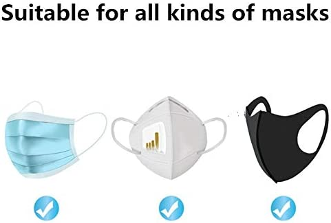 Mylujo 50pcs//bo/îte Jetable Filtre Visage Respirant Tampons de Filtre dIsolation de Coton Non-tiss/é