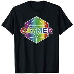 Gaymer Pride LGBT T Shirt Rainbow Flag Gay Lesbian Gaming