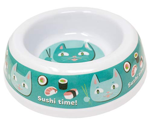 (Melamine Cat Bowls with Cute Kitty Designs (Sushi)