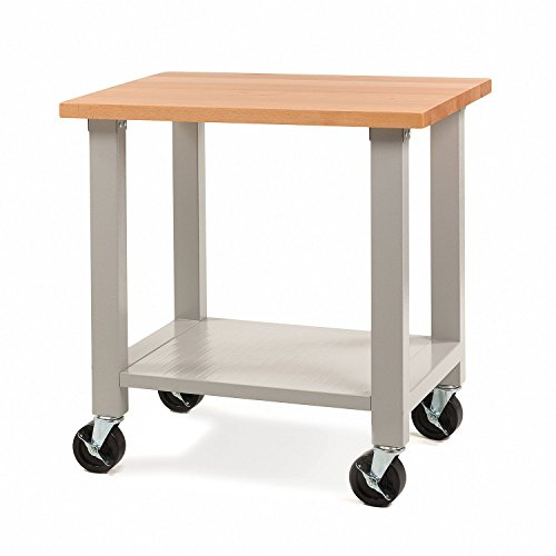 Maple Deep Workbench - Seville Classics UltraHD Mobile Workstation