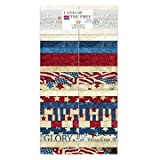 Stonehenge Land of the Free Old Glory by Linda Ludovico for Northcott Fabrics. 40 2.5x44-inch fabric strips. 100% cotton. Quilt and fashion weight. Professionally cut and packaged by Northcott Fabrics. This set includes duplicates. Northcott ...