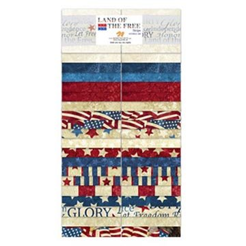 Linda Ludovico Stonehenge Land of the Free Strips 40 2.5-inch Strips Jelly (Free Fabric Samples)