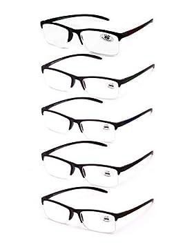 Pack de 5 lunettes de Lecture Vista fatiguée presbytes, lunettes de Homme  et Femme Unisexe d9c200b3d4fa