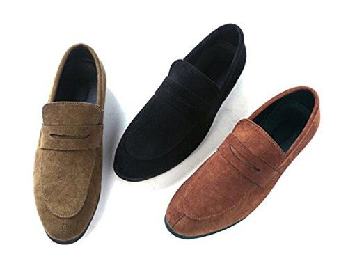 Slip Loafers Oxford Dark Suede Men's Shoes XIUWU Camel Footwears Ons Leisure qxTRXtqw0