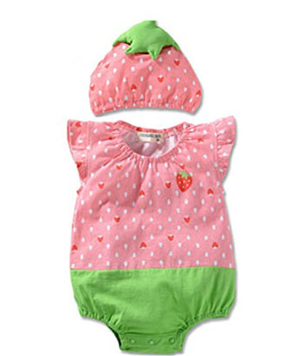 [Niyage Baby Boy Girl Fruit Styling Bodysuit Cute Rompers ( 6 Kinds of Fruits ) 12-18 months] (Watermelon Toddler Costume)