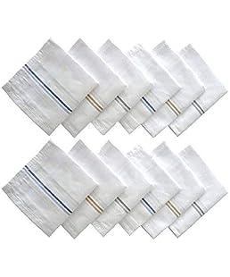 BOSS/AMIT/SATISH/Unbranded Men's Cotton Business Handkerchiefs (White, 45x45 cm)-12 Pieces