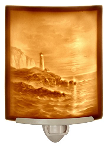 (Lighthouse - Curved Porcelain Lithophane Night Light)
