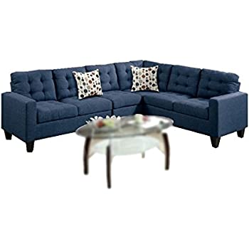 Modern Contemporary Polyfiber Fabric Modular Sectional Sofa (Blue)