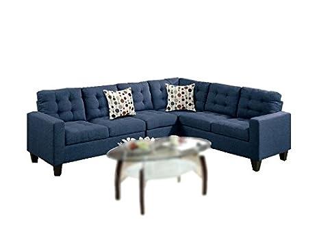 Stupendous Modern Contemporary Polyfiber Fabric Modular Sectional Sofa Blue Ncnpc Chair Design For Home Ncnpcorg
