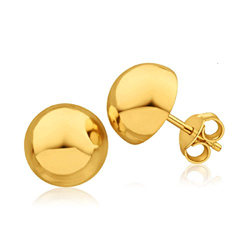 Stud Earrings in 4mm, 6mm, 8mm, 10mm, 12mm and 14mm in Silver, Gold or Rose Gold (14mm Gold) ()