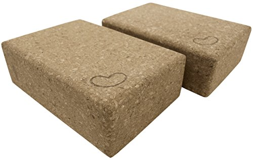 Eco Yoga Cork Blocks 2 Pack 3 in x 6 x in x 9 in Standard Size